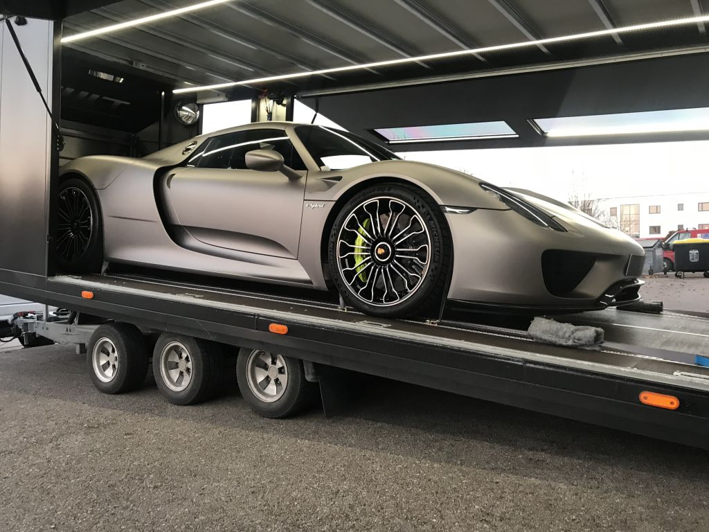 Transport Porsche 918 Spyder